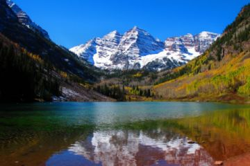 The Maroon Bells Wilderness Area is one of the most photographed areas in North America.  You just might see a moose! (Pic)