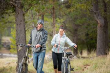 Biking both on and off road, take Oregon Scenic Bikeway or toodle around town. (Pic)