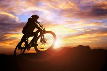 Mountain Biking events take place all year round, even Fat Biking during the Winter (Pic)