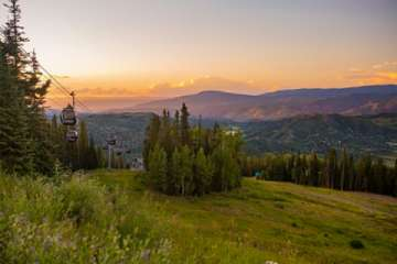 After you enjoy a wonderful farm to table dinner at Elk Camp, ride the gondola back down and enjoy beautiful sunsets! (Pic)